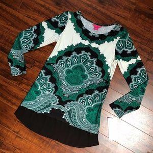 SUNNY LEIGH Paisley Shirt Dress